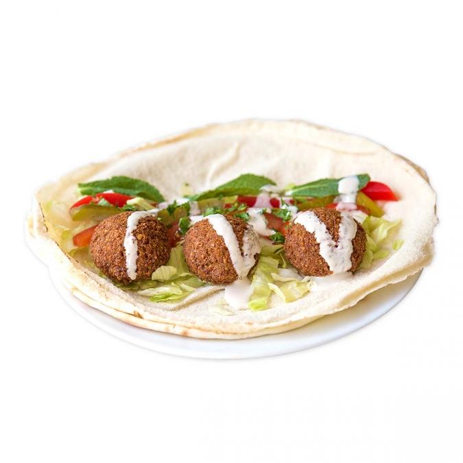 Falafel Sandwich {vegan}