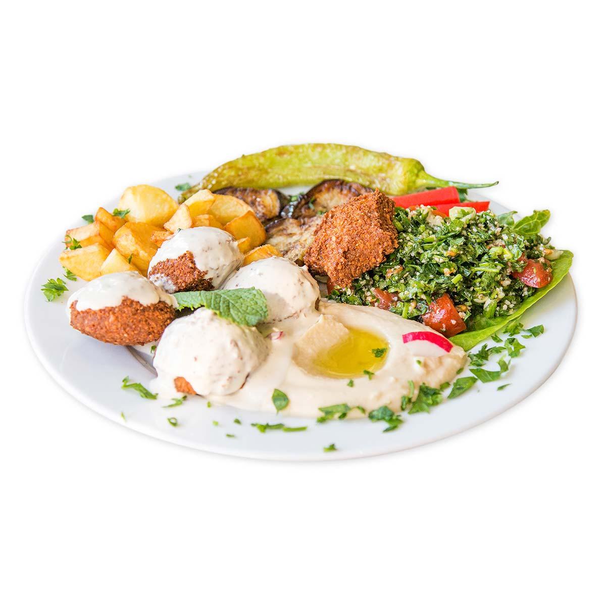Veganer Falafel Star Teller
